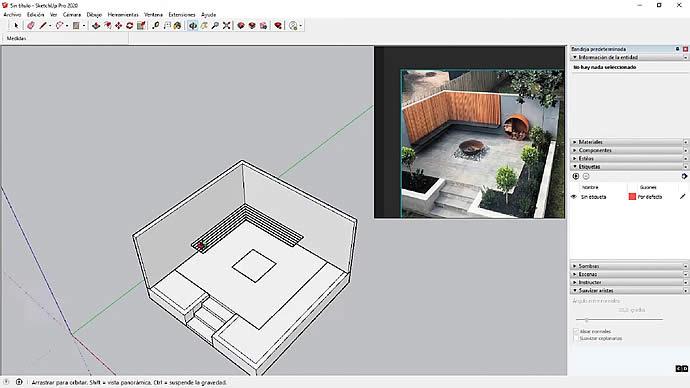 Curso de SketchUp - Dibujar a partir de imagen