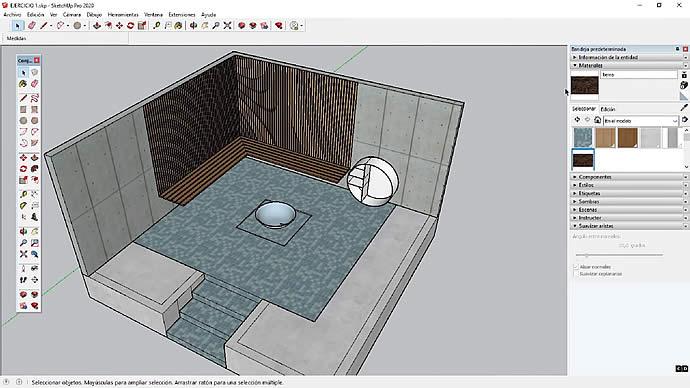 Curso de SketchUp - Aplicar materiales